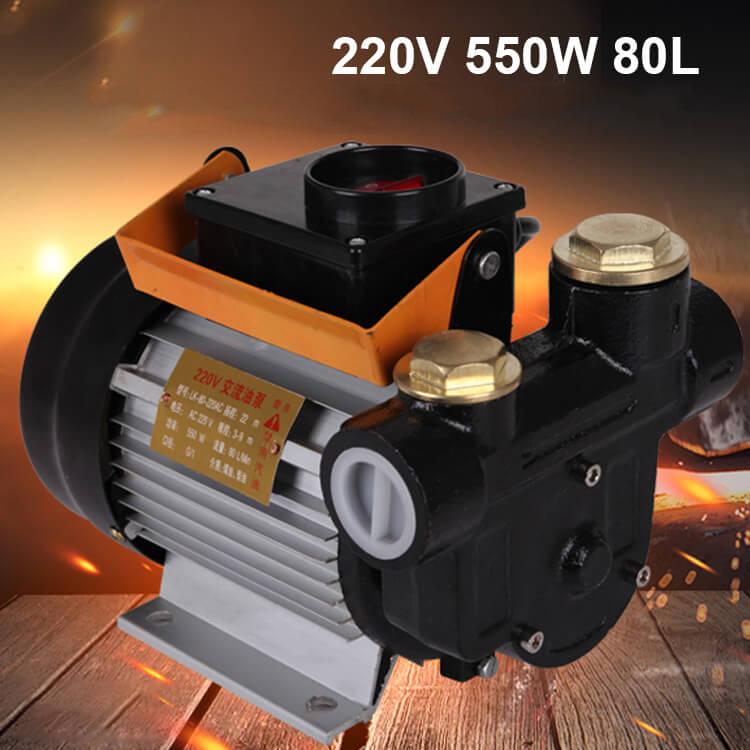 may bom dau diesel 220v 550w 80l
