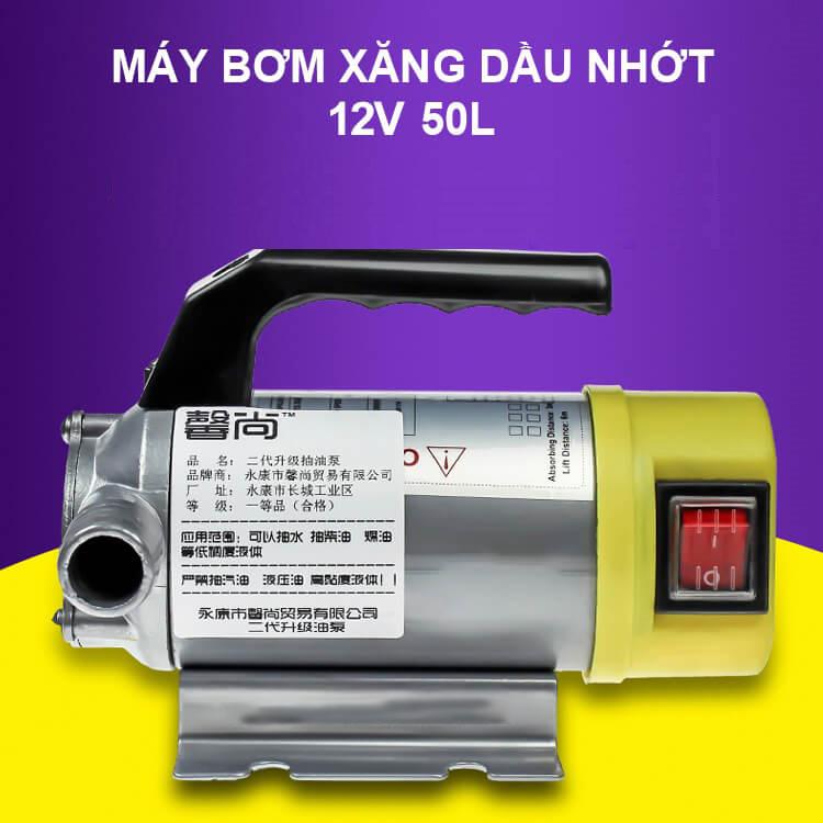 Máy bơm xăng dầu nhớt Inox 12V 200W 50L