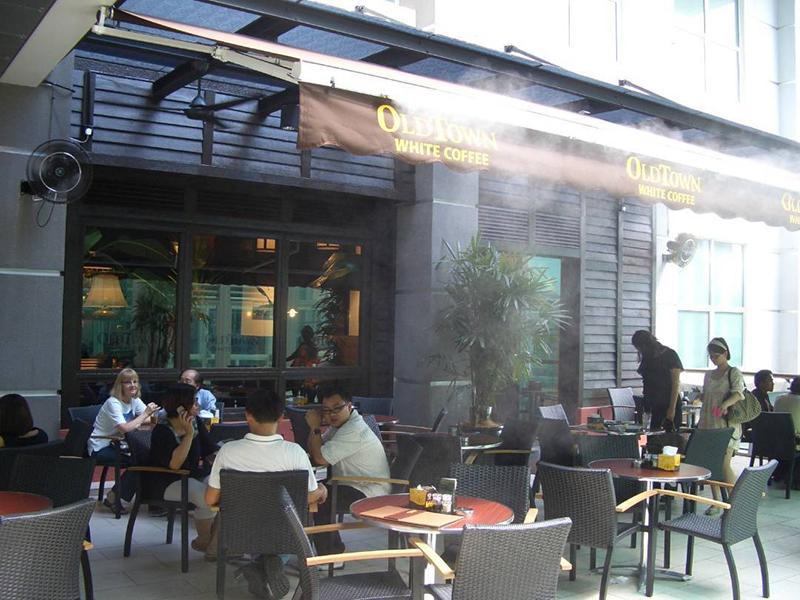 huong dan chon he thong may phun suong lam mat cho quan cafe