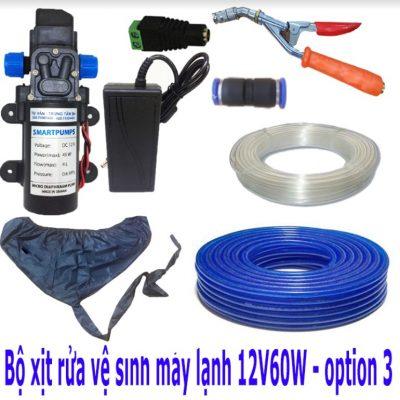 Bộ Xịt Rửa Xe Vệ Sinh Máy Lạnh 12V 60W – Option 3