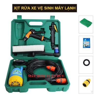 Bộ rửa xe mini máy bơm chìm 12V 60W Súng áp lực – kèm Vali