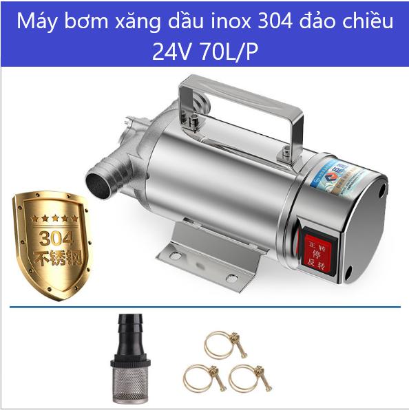 may bom xang dau nhot inox 304 220v