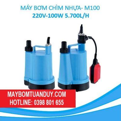 MÁY BƠM CHÌM NHỰA-M100 220V-100W 5.700L/H (CÓ PHAO)