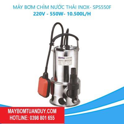 Máy Bơm Chìm Nước Thải Inox-SPS550F 220V–550W-10.500L/H (Có Phao)