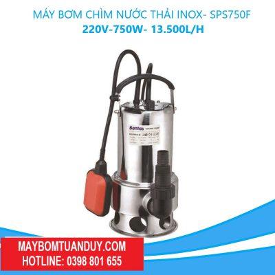 Máy Bơm Chìm Nước Thải Inox-SPS750F 220V-750W-13.500L/H (Có Phao)