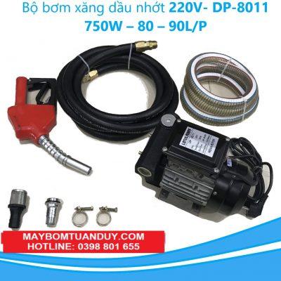 Bộ Máy Bơm Xăng Dầu Nhớt 220V- DP-8011 750W – 80 – 90L/P