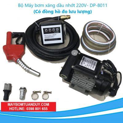 Bộ Bơm Xăng Dầu Nhớt DP-8011 220V-750W – 80 – 90L/P1 (Có Đồng Hồ Đo Lưu Lượng)