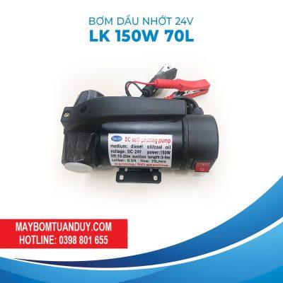 Bơm Dầu Nhớt 24V-LK 150W 70L/P