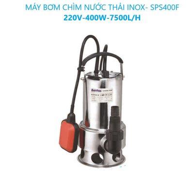 Máy Bơm Chìm Nước Thải Inox-SPS400F-220V-400W-7500L/H (Có Phao)