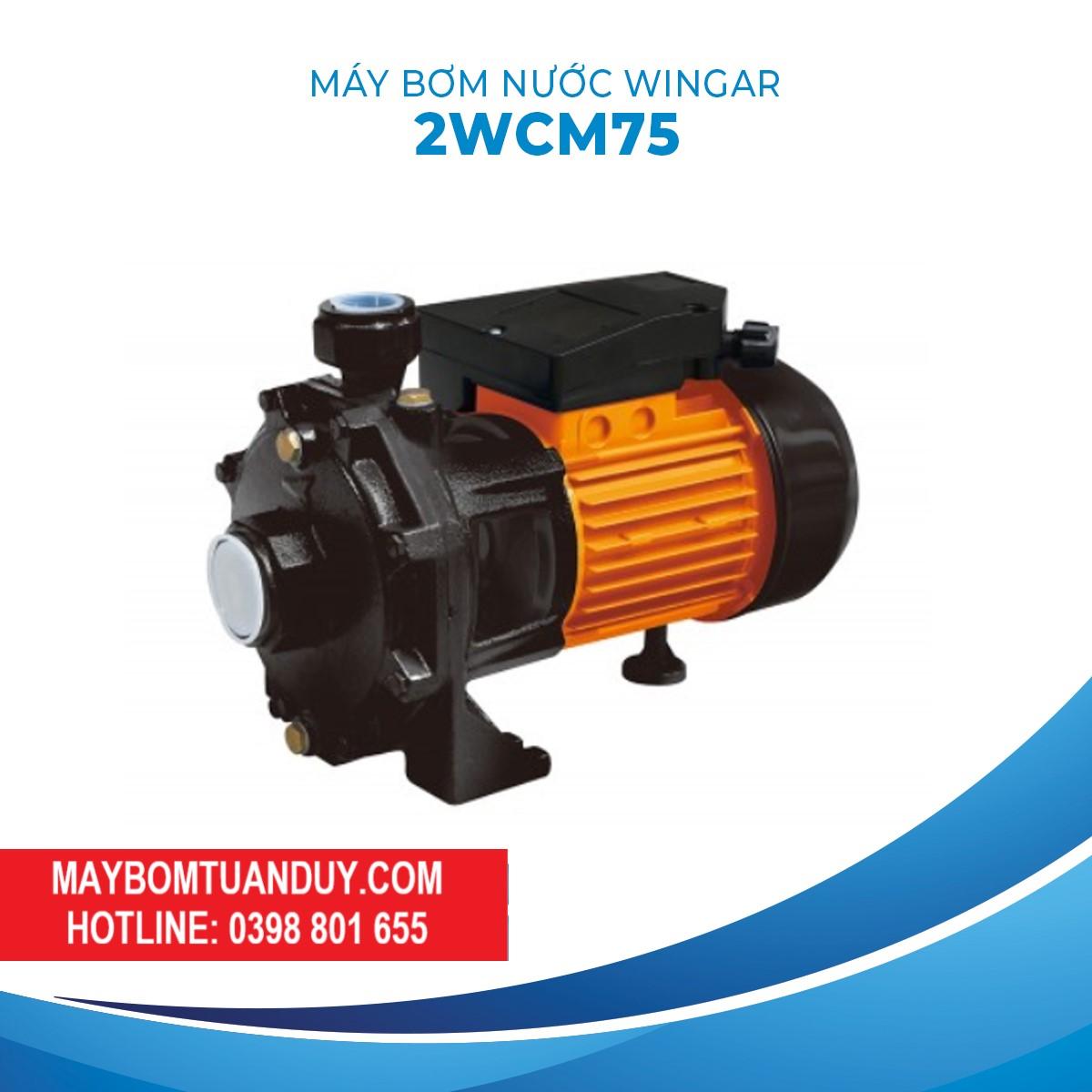 Máy Bơm Nước Wingar 2WCM75 220V 1HP 100L/P