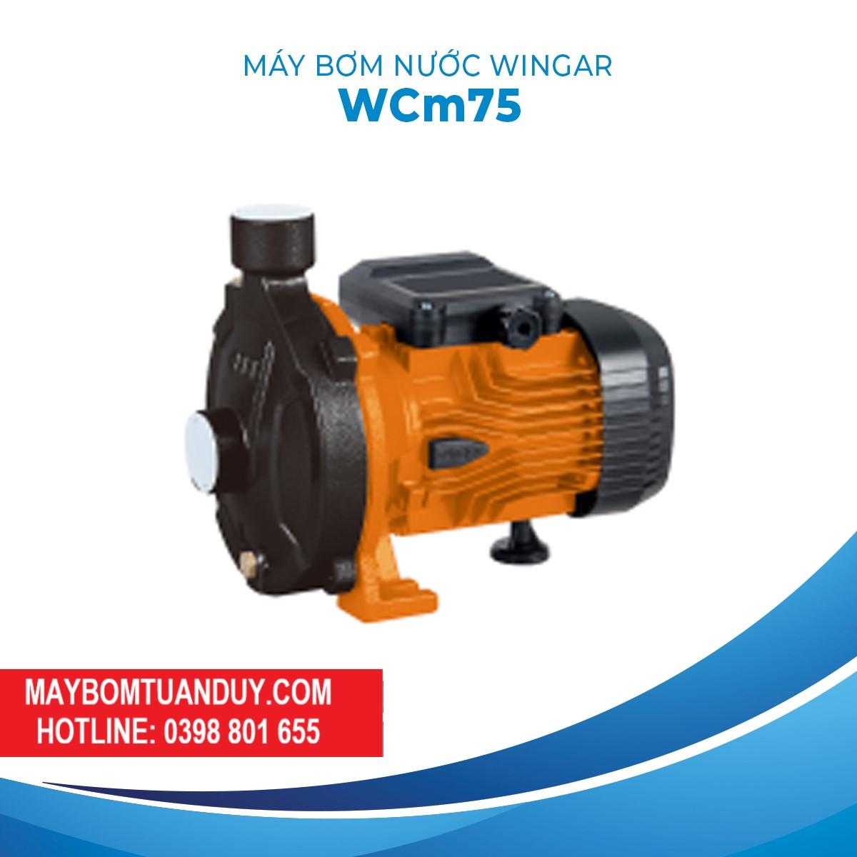 Máy Bơm Nước Wingar WCM75 220V 1HP 100L/P
