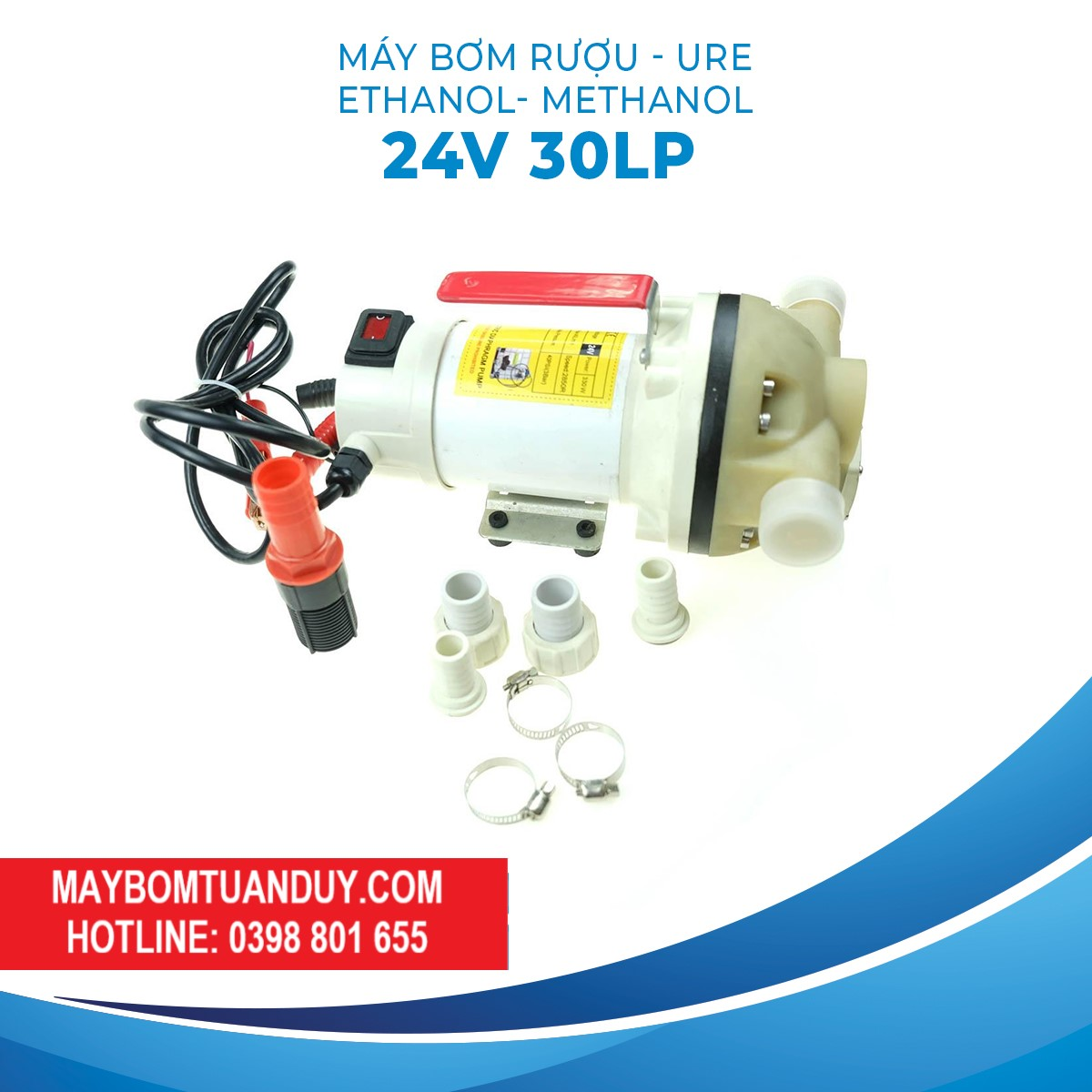 Máy Bơm Rượu-Ethanol-Methanol-Ure 24V 30LP