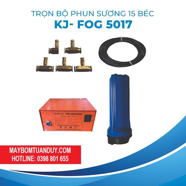 Trọn Bộ Phun Sương 15 Béc KJ- FOG 5017